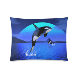 """A Orca Whale Enjoy The Freedom Custom Picture Pillow Case 20""""x26"""" (one side)"""