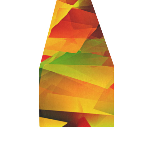 Indian Summer Cubes Table Runner 14x72 inch