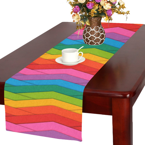 Woven Rainbow Table Runner 16x72 inch