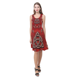 The celtic sign in red colors Atalanta Casual Sundress(Model D04)