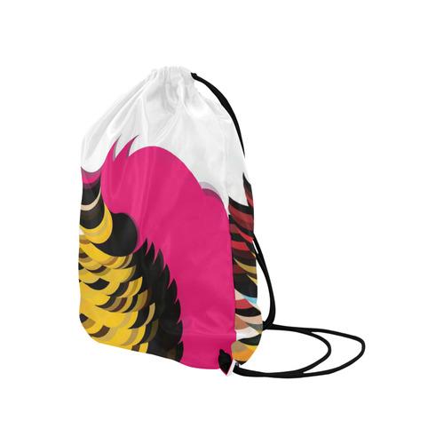 "Pink Pattern by Artdream Large Drawstring Bag Model 1604 (Twin Sides)  16.5""(W) * 19.3""(H)"