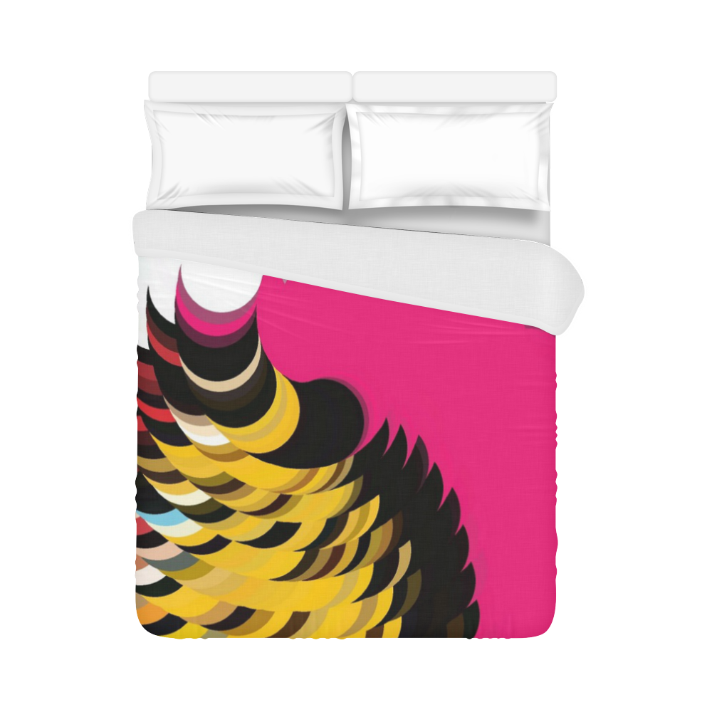 """Pink Pattern by Artdream Duvet Cover 86""""x70"""" ( All-over-print)"""