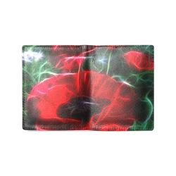 Wonderful Poppies In Summertime Men's Leather Wallet (Model 1612)