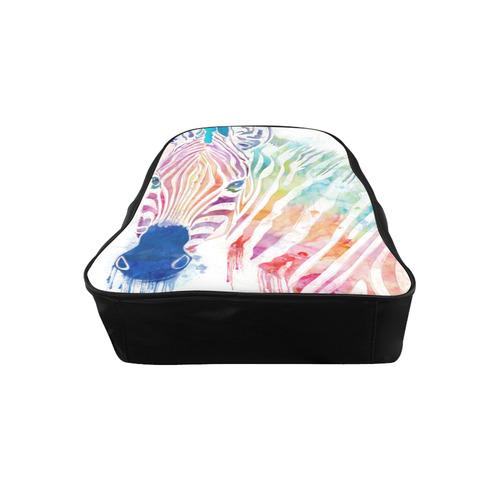watercolor rainbow zebra School Backpack (Model 1601)(Small)