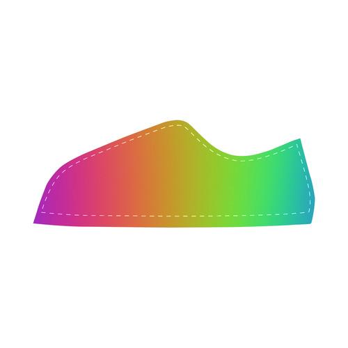 Love the Rainbow Women's Canvas Shoes (Model 016)