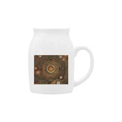 Steampunk, wonderful vintage clocks and gears Milk Cup (Small) 300ml