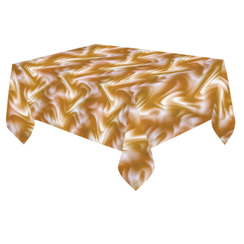 "Chocolate Silk Rumple - Jera Nour Cotton Linen Tablecloth 60""x 84"""