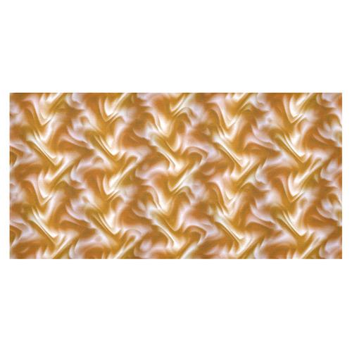 "Chocolate Silk Rumple - Jera Nour Cotton Linen Tablecloth 60""x120"""