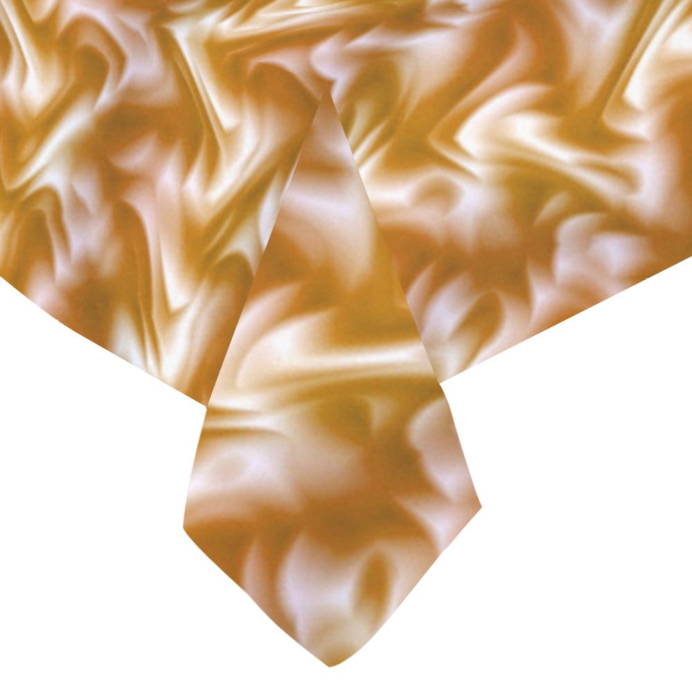 "Chocolate Silk Rumple - Jera Nour Cotton Linen Tablecloth 60""x 84"""