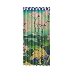 """Hokusai Goten-Yama Hill Shinagawa New Window Curtain 50"""" x 108""""(One Piece)"""