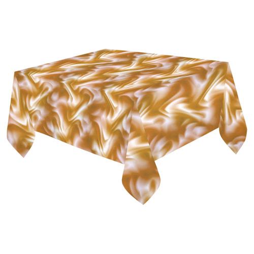 "Chocolate Silk Rumple - Jera Nour Cotton Linen Tablecloth 52""x 70"""