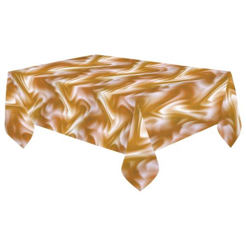 "Chocolate Silk Rumple - Jera Nour Cotton Linen Tablecloth 60""x 104"""