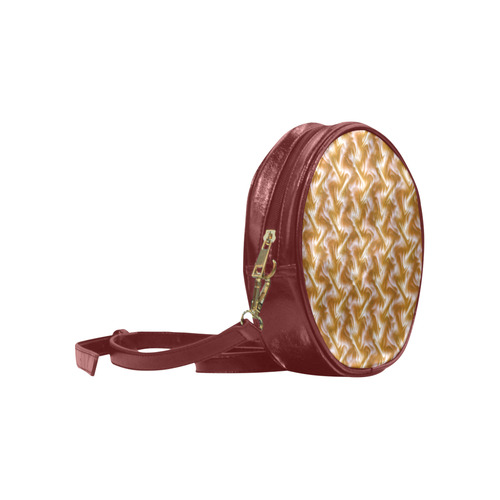 Chocolate Silk Rumple - Jera Nour Round Sling Bag (Model 1647)