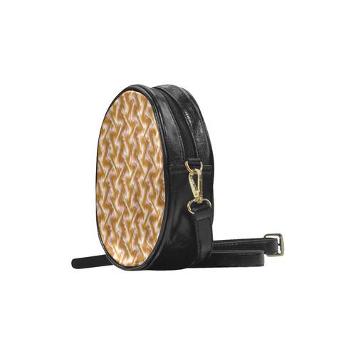 Chocolate Silk Rumple - Jera Nour Round Sling Bag (Model 1647)