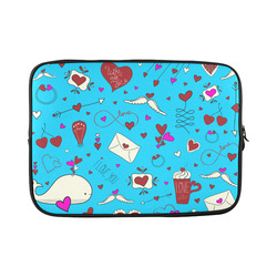 """Valentine's Day LOVE HEARTS pattern red pink Custom Sleeve for Laptop 15.6"""""""