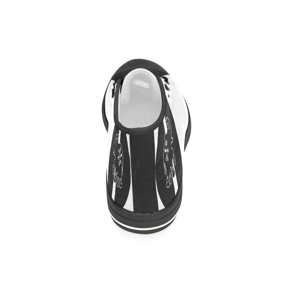 Modern Art Indian Elephant Women's Classic High Top Canvas Shoes (Model 017)