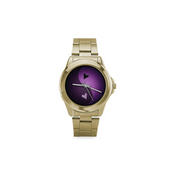 yin yang heart- purple Custom Gilt Watch(Model 101)