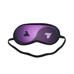 yin yang heart- purple Sleeping Mask