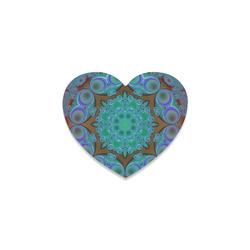 fractal pattern 1 Heart Coaster