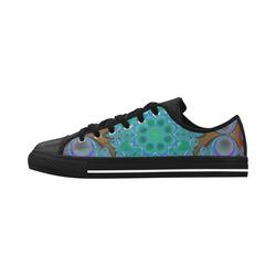 fractal pattern 1 Aquila Microfiber Leather Women's Shoes (Model 028)
