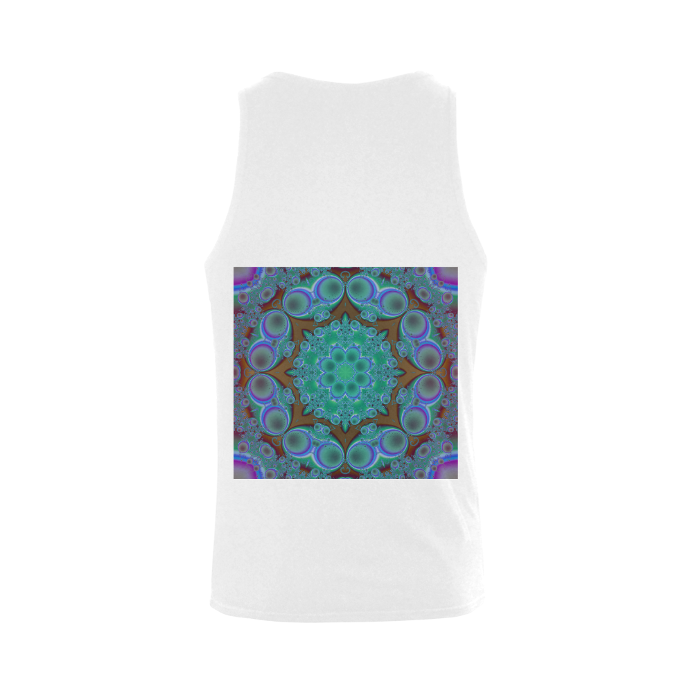 fractal pattern 1 Plus-size Men's Shoulder-Free Tank Top (Model T33)