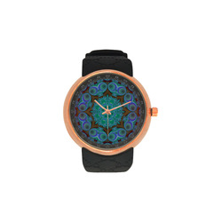 fractal pattern 1 Men's Rose Gold Resin Strap Watch(Model 308)