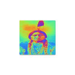 "Sitting Bull Canvas Print 6""x4"""