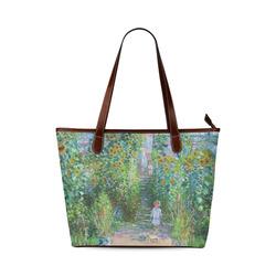 Claude Monet Artist's Garden at Vetheuil Shoulder Tote Bag (Model 1646)