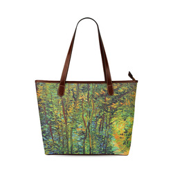 Vincent van Gogh Path in the Woods Shoulder Tote Bag (Model 1646)