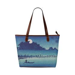 Hiroshige Moonlight Night Japanese Fine Nature Shoulder Tote Bag (Model 1646)