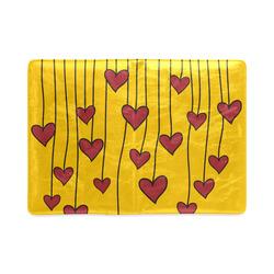 Waving Love Heart Garland Curtain Custom NoteBook A5