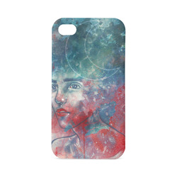 watercolor portrait moon goddess Hard Case for iPhone 4/4s