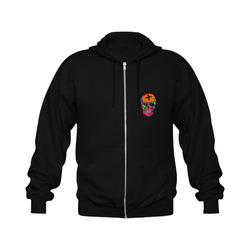 Skull Popart by Popart Lover Gildan Full Zip Hooded Sweatshirt (Model H02)