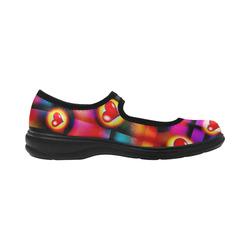 Hearts Parade Colorful Plaid Virgo Instep Deep Mouth Shoes