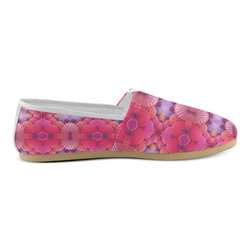 Pink Fans Unisex Casual Shoes (Model 004)