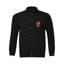 Skull Popart by Popart Lover Men's Baseball jacket (Model H12)