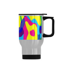 Colorful chaos Travel Mug (Silver) (14 Oz)