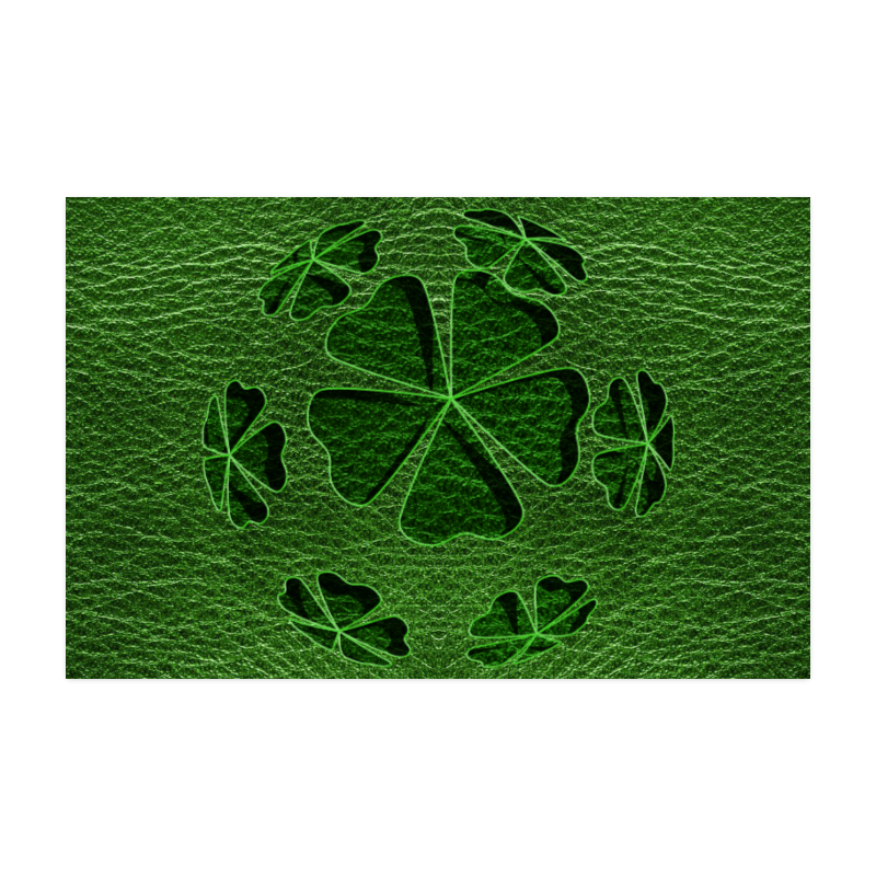 """Leather-Look Irish Cloverball Poster 22""""x34"""""""