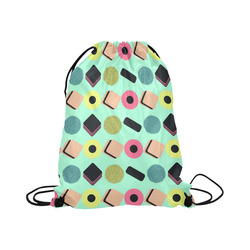 "Liquorice Candy Mix Large Drawstring Bag Model 1604 (Twin Sides)  16.5""(W) * 19.3""(H)"