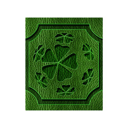 "Leather-Look Irish Cloverball Poster 20""x24"""