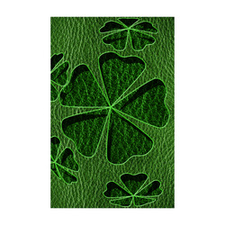 "Leather-Look Irish Cloverball Poster 22""x34"""