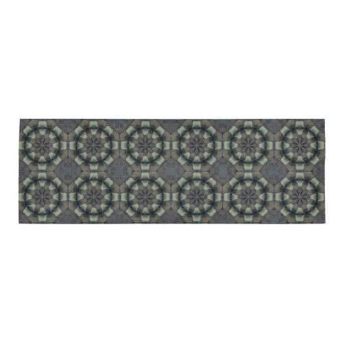 Gray And Black Geometric Pattern Area Rug