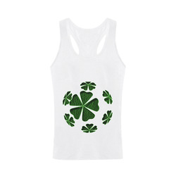 Leather-Look Irish Cloverball Plus-size Men's I-shaped Tank Top (Model T32)