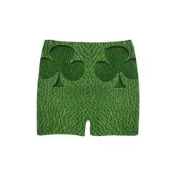 Leather-Look Irish Clover Briseis Skinny Shorts (Model L04)