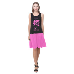 This Pussy Grabs Back! Sleeveless Splicing Shift Dress(Model D17)