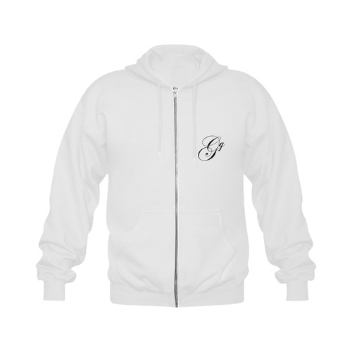 Alphabet G - Jera Nour Gildan Full Zip Hooded Sweatshirt (Model H02)
