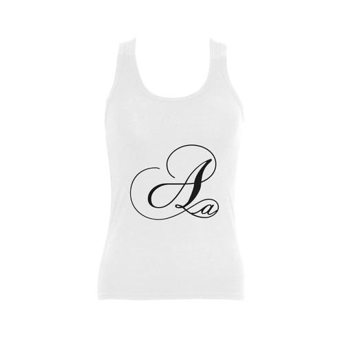 Alphabet A - Jera Nour Women's Shoulder-Free Tank Top (Model T35)