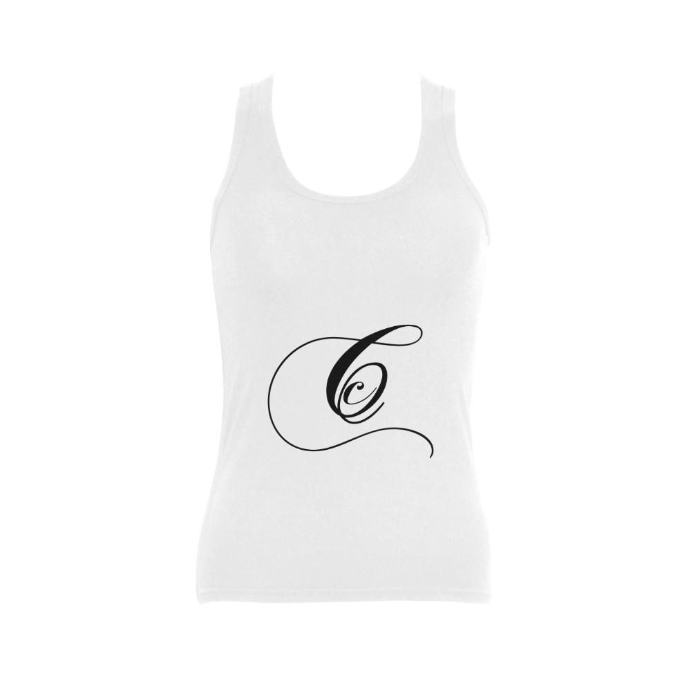 Alphabet C - Jera Nour Women's Shoulder-Free Tank Top (Model T35)