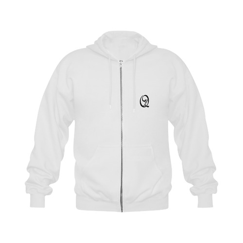 Alphabet Q - Jera Nour Gildan Full Zip Hooded Sweatshirt (Model H02)