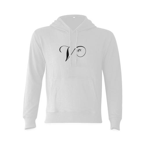 Alphabet V - Jera Nour Gildan Hoodie Sweatshirt (Model H03)
